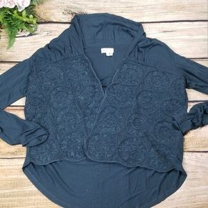 Anthropologie Sweaters - Anthro Meadow Rue Open Cardigan Quilted Green